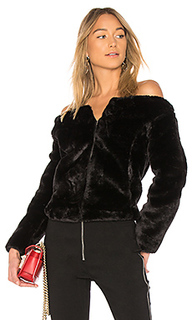 Куртка с открытыми плечами faux fur - Endless Rose