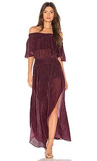 Макси платье с открытыми плечами miranda - FLYNN SKYE