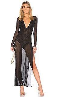 Платье-макси с длинным рукавом gracia - h:ours