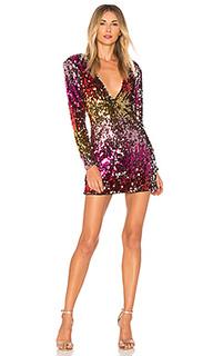 Мини-платье с длинным рукавом avery - h:ours