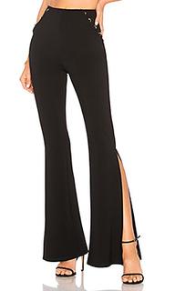 Широкие брюки с высоким поясом kyler - h:ours