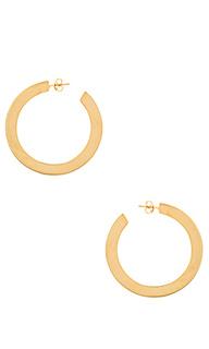 Серьги-кольца flat out - joolz by Martha Calvo