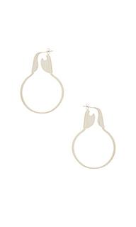 Серьги safety hoops - joolz by Martha Calvo