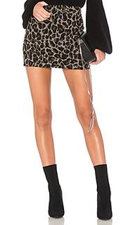 Мини-юбка с высоким поясом и животным принтом sumatra - Lovers + Friends