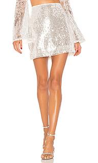 Мини юбка с блестками alaska - MAJORELLE