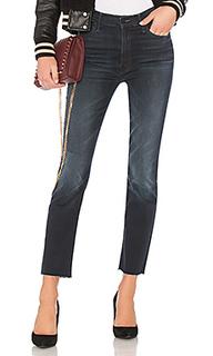 Прямые джинсы high waisted rascal ankle snippet - MOTHER