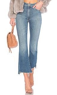 Укороченные расклешенные джинсы the hustler two step ankle fray - MOTHER