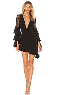 Асимметричное платье миди camari - NBD