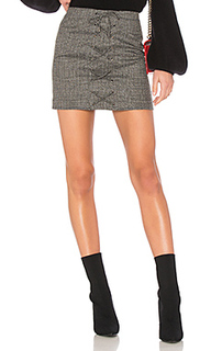 Мини-юбка со шнуровкой jessa - NBD