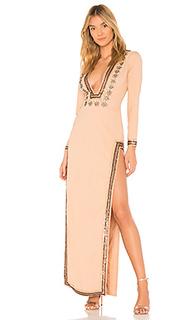 Украшенное вечернее платье с длинным рукавом dasha - X by NBD