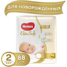 Подгузники Huggies Elite Soft 2 Mega Pack, 4-7 кг, 88 шт.