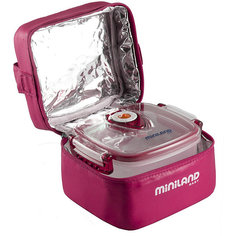 Термосумка с 2-мя вакуумными контейнерами, HERMIFRESH, розовый Miniland