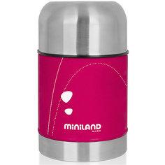 Термос для еды в сумке Miniland SOFT THERMO FOOD 600 мл, розовый