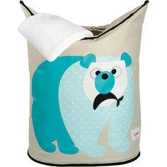 Корзина для белья Белый мишка (Blue Polar Bear), 3 Sprouts