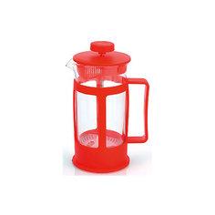 Кофейник стеклянный 350 мл, МФК-профит, красный