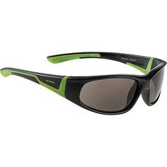 Очки солнцезащитные FLEXXY JUNIOR, черно-зеленые, ALPINA