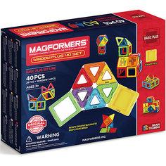 Магнитный конструктор 715002 Window Plus Set 40 set, MAGFORMERS