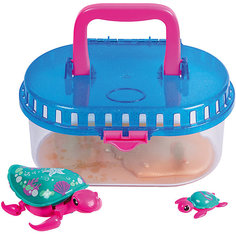 Интерактивная игрушка Moose Little Live Pets Черепашка с малышом в аквариуме