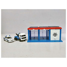 """Гараж Пламенный мотор """"Полиция"""", 2 машинки"""