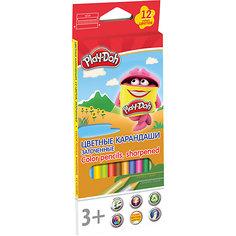 """Цветные карандаши Академия Групп """"Play-Doh"""", 12 цветов"""