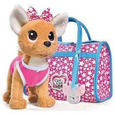 """Мягкая игрушка Simba Chi-Сhi Love Собачка """"Звездный стиль"""" с сумочкой, 20 см"""