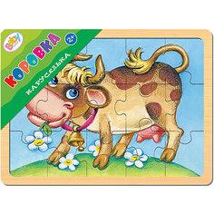 """Пазл в рамке Step Puzzle Каруселька """"Коровка"""", 15 элементов"""