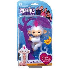 Интерактивная обезьянка Fingerlings София, 12 см (белая) WowWee