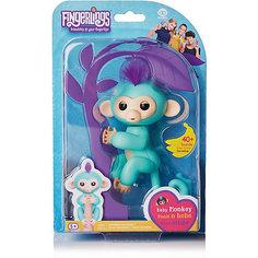 Интерактивная обезьянка Fingerlings Зоя, 12 см (зеленая) WowWee
