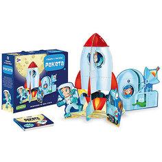 Пазл гигантский 3D + книга. Ракета. Серия Собери и построй. 12 деталей. ГЕОДОМ Sassi