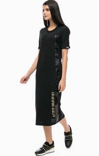 Платье с логотипом бренда и пайетками Liu Jo Sport
