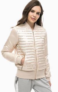 Бежевая куртка с отделкой пайетками Liu Jo Sport