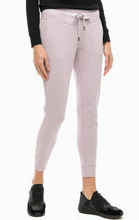 Сиреневые брюки с логотипом бренда Dkny