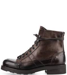 Коричневые ботинки из натуральной кожи O.X.S.
