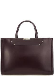 Бордовая сумка из гладкой кожи Cavalli Class