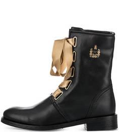 Черные кожаные ботинки FLY London