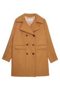 Двубортное пальто из хлопкового микса Paul & Joe Sister