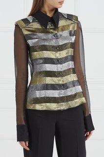 Шелковая блузка с блестящими полосками Esve