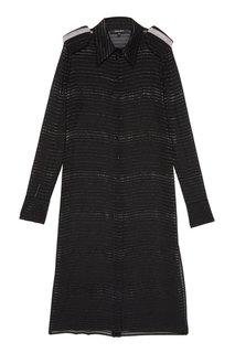 Шелковое платье-рубашка с люрексом Esve