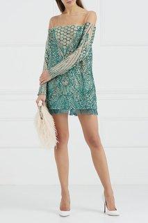 Платье-мини с вышивкой пайетками Esve