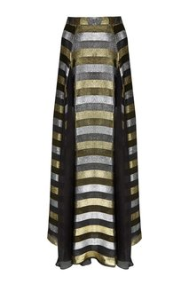 Шелковая юбка-макси с люрексом Esve
