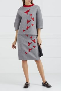 Шерстяной свитшот с вышивкой Korsun
