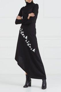 Асимметричное платье с вышивкой Korsun