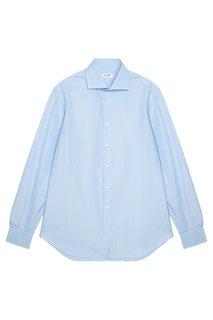 Голубая хлопковая рубашка Cesare Attolini