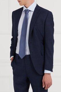 Синий шелковый галстук Cesare Attolini