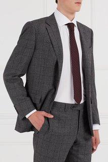 Шелковый галстук с набивным узором Cesare Attolini