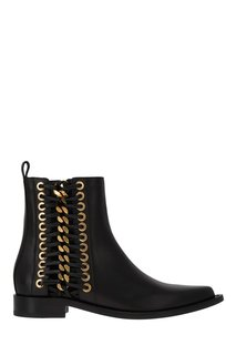Кожаные ботинки с люверсами Alexander Mc Queen
