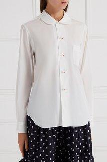 Хлопковая блузка с круглым воротником Comme des Garcons Girl