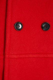 Красное шерстяное пальто Comme des Garcons Girl