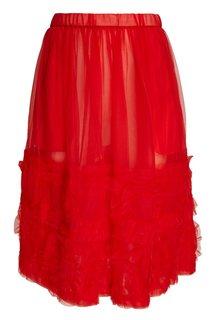 Шифоновая юбка с оборками Comme des Garcons Girl