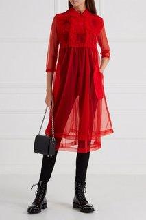 Шифоновое платье с объемным декором Comme des Garcons Girl